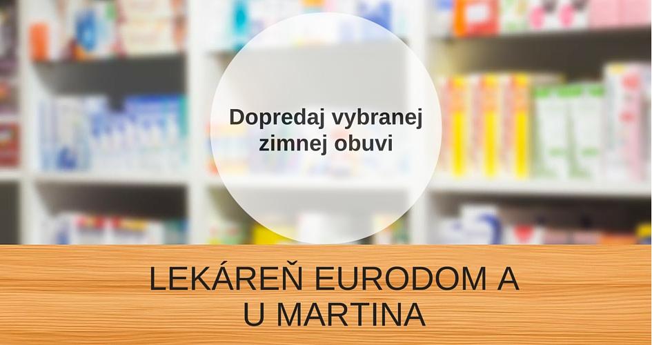 Dopredaj zimnej obuvi v Lekárni Eurodom v Senici